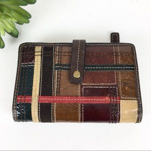 ⬇️🔥SALE🔥 Fossil Wallet Patchwork Leather